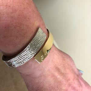 Guess silver/gold hinge bracelet